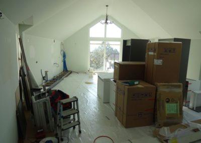 Nun beginnt der Einbau der Küche