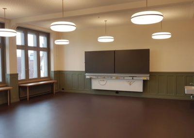 Eines der neuen Unterrichtszimmer.