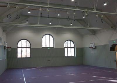 Auch die Turnhalle wurde saniert.