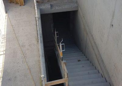 Das erste Treppenelement wurde versetzt.