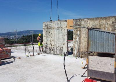 Es werden die letzten Betonwände erstellt.