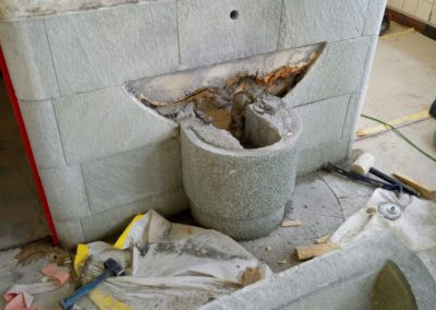Restaurierung von Trinkbrunnen in den Korridoren.