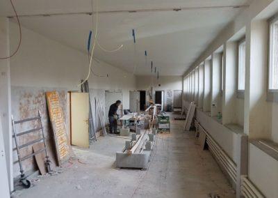 Übersicht Korridor 1.UG: Scheiner- und Elektroarbeiten